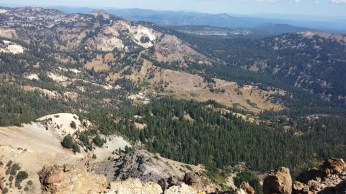 Looking down on Lassen Volcanic National Park. FAITH MECKLEY