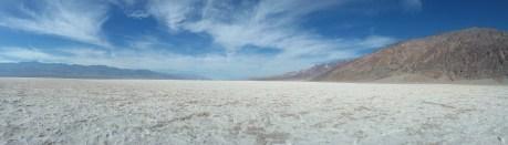 A panorama of the salt flats at Badwater Basin. FAITH MECKLEY