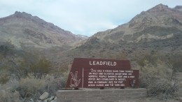 This sign sits in front of a small parking area where you can pull over and then explore Leadfield on foot. FAITH MECKLEY