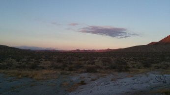 The view from our campsite on BLM land in Red Mountain, CA. FAITH MECKLEY
