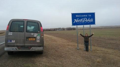 Welcome to North Dakota. Photo taken by Aria Mildice