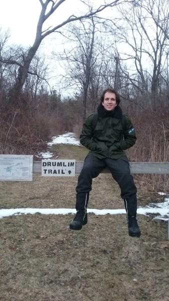 Alex poses at the Drumlin trailhead. FAITH MECKLEY