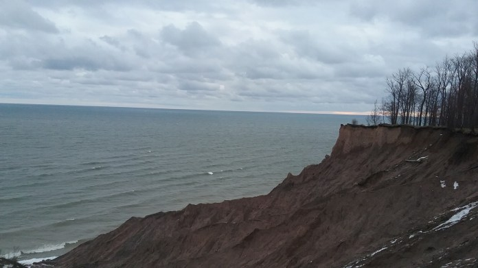 A dramatic end to the Drumlin Trail in Chimney Bluffs State Park. FAITH MECKLEY