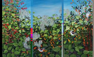 Norfolk Hedge Triptych