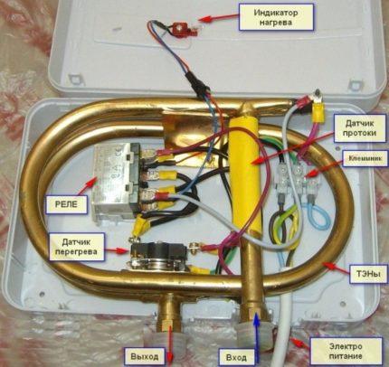 Συσκευή θερμαντήρα νερού ροής