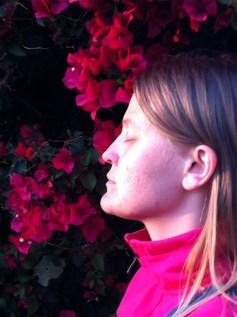 Pink Bouganvilla and Elena