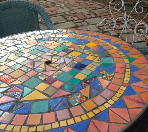 Mosaics are plentiful around here
