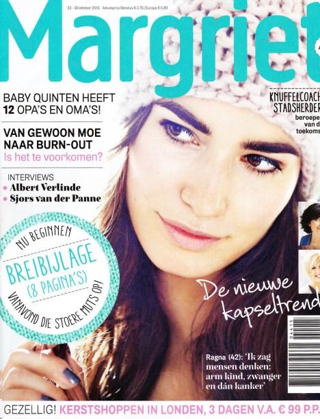 Margriet nr 44 Oktober 2015 met vintage van OnS