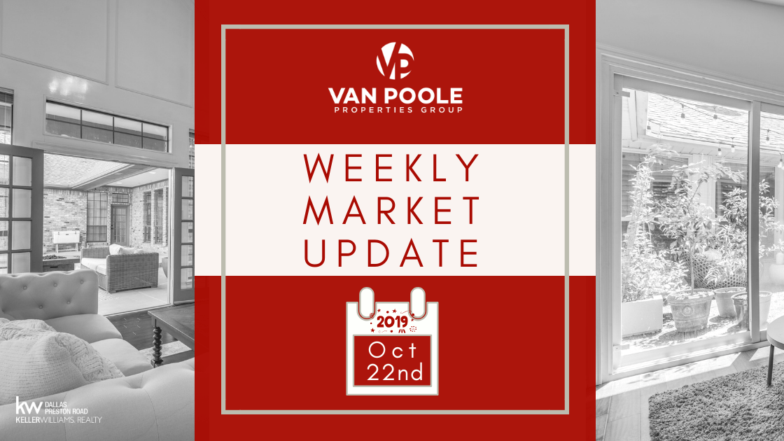 Weekly Market Update – October 22, 2019 – Dallas-Ft. Worth Real Estate