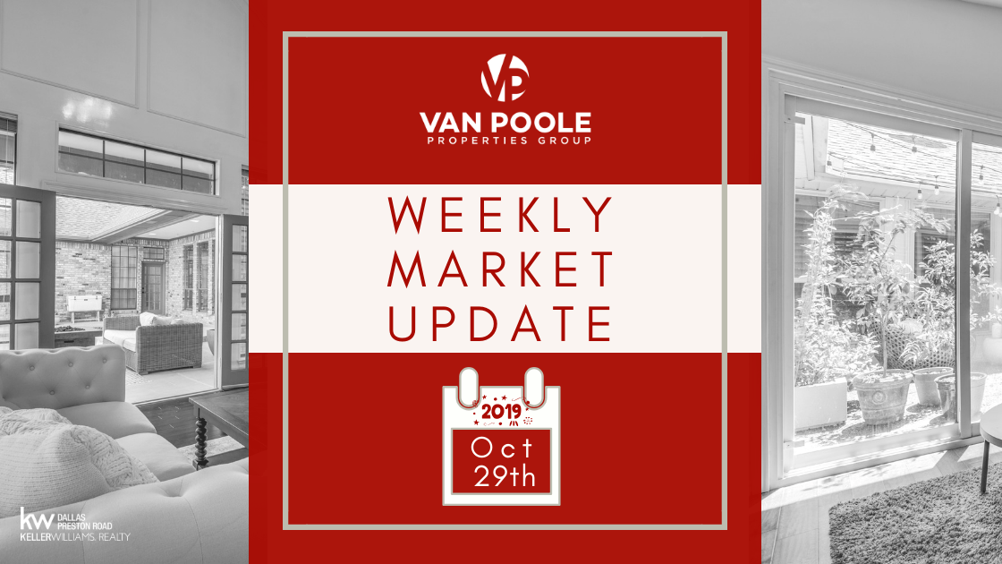 Weekly Market Update – October 29, 2019 – Dallas-Ft. Worth Real Estate