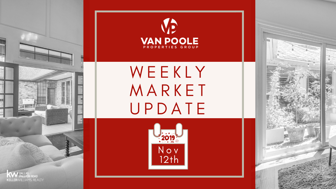 Weekly Market Update – November 12, 2019 – Dallas-Ft. Worth Real Estate