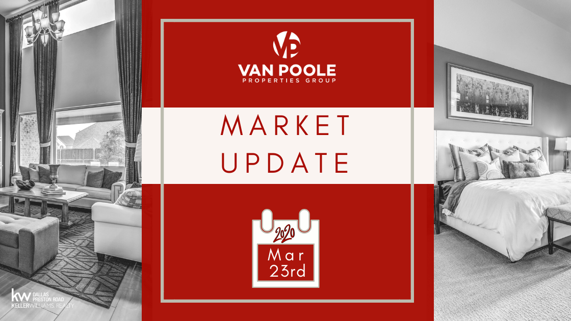 Market Update – March 23, 2020 – Dallas-Fort Worth Real Estate