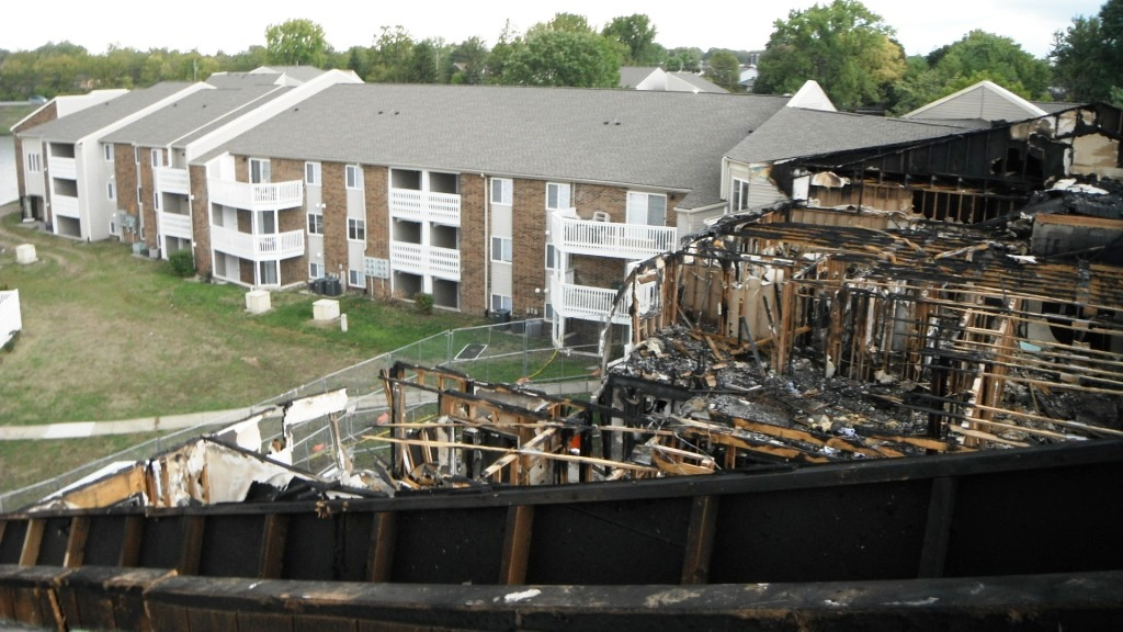 Exterior Aerial View of Damage