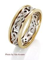 Celtic Ring on White Background