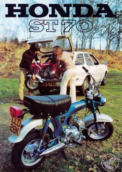 Monkey Honda dax réplica ST 70 cartel años 70