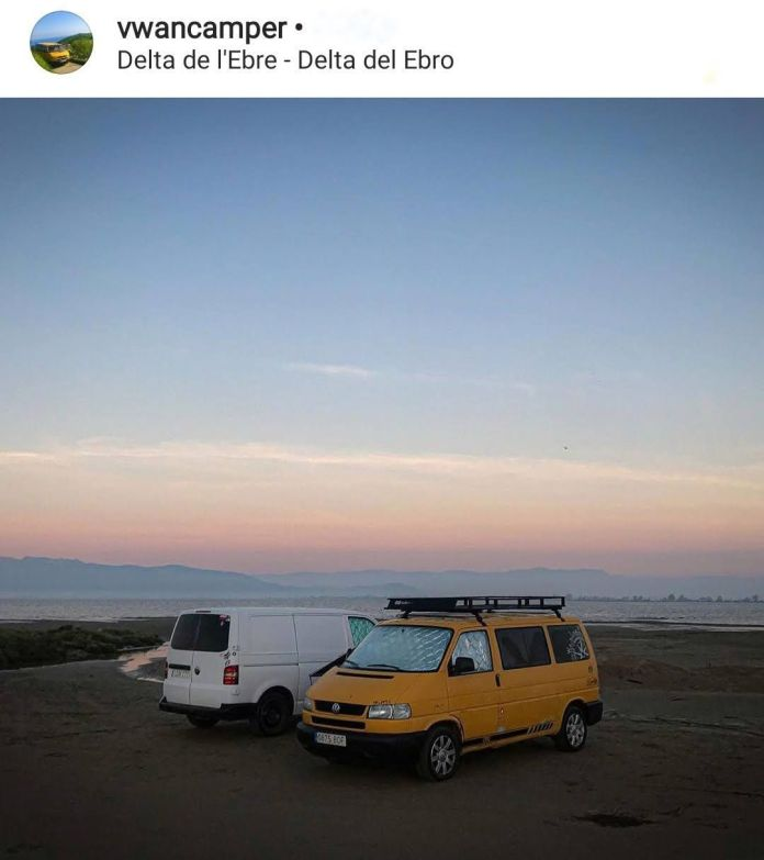 delta del ebro en furgoneta camper