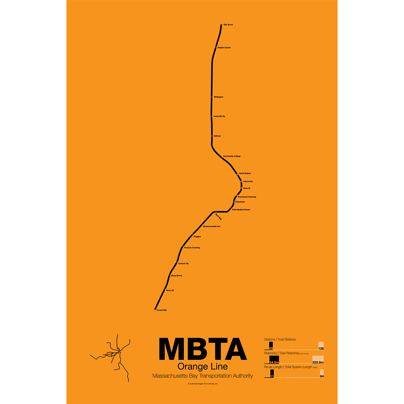 Mbta orange line t poster vanmaps mbta orange line sciox Gallery