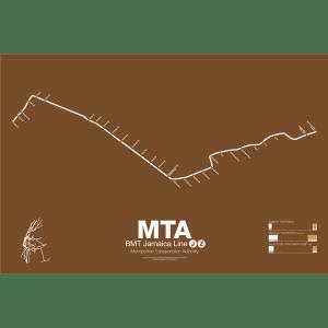 BMT Jamaica Line J/Z Subway Poster