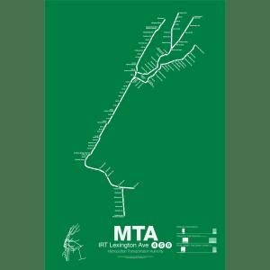 IRT Lexington Ave Line 4/5/6 Subway Poster