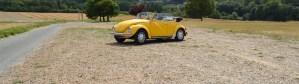 Van's Holidays loue une vw coccinelle cabriolet jaune
