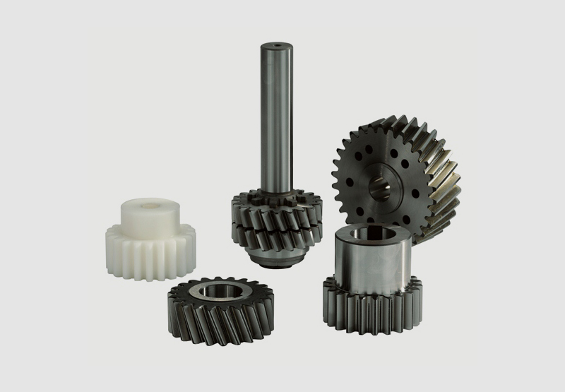gear racks and gears driving elements