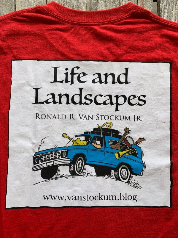 Life and Landscapes t-shirt Back