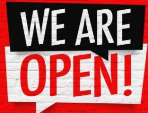 Vantage Appliances Inc. we are open sign during Covid-19