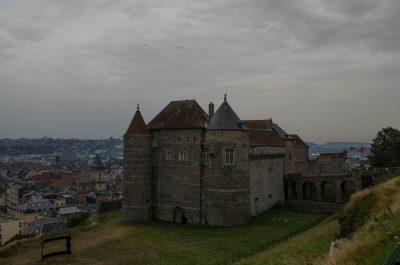 Schloss in Dieppe beim Roadtrip durch Frankreich