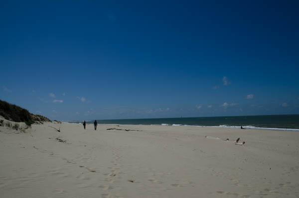Stand an der Französischen Atlantikküste