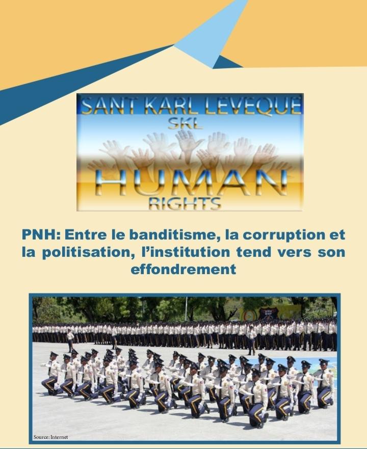 , La Police Nationale d'Haïti, une institution politisée selon le Centre Karl Lévêque