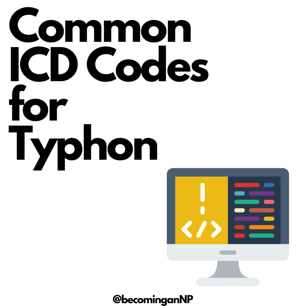 Common ICD codes in Typhon