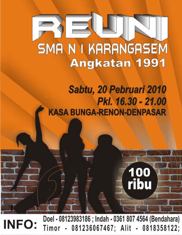 Undangan Reuni Sman 1 Karangasem Bali Angkatan 91 Vantheyologist