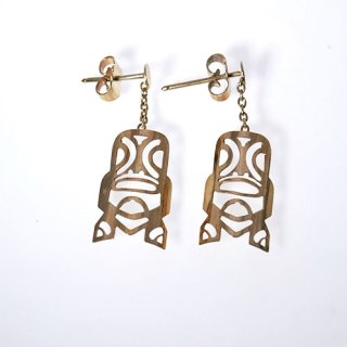 TIKI SHAPED DROP EARRING