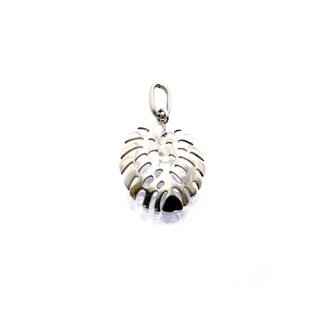 BREADFRUIT LEAF PENDANT STERLING SILVER