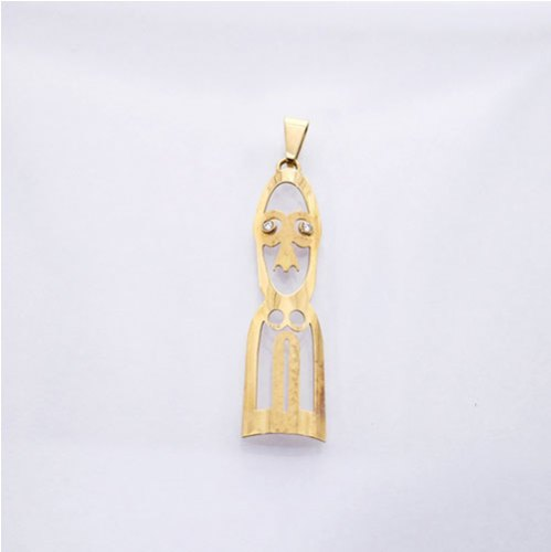 FERN CARVING SHAPED FACE PENDANT