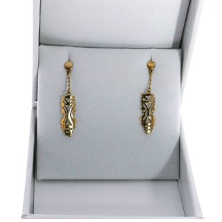 PONAHRE SHAPE DROP CHAIN EARRING