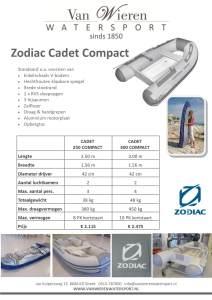 Zodiac Cadet Compact ALGEMEEN
