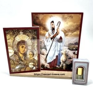Set icoane sfintite cu diverse icoane si cadou