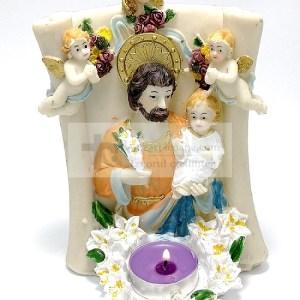 Candela rasina Iosif cu Pruncul Iisus si Ingeri