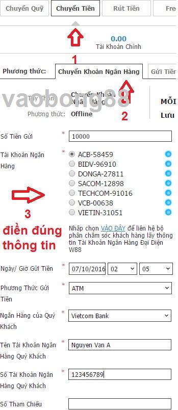 gui tien w88 offline
