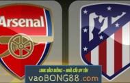 Tỷ lệ cược Arsenal - Atletico Madrid (02:05 – 27-04-2018) Cúp C2 theo 1gom