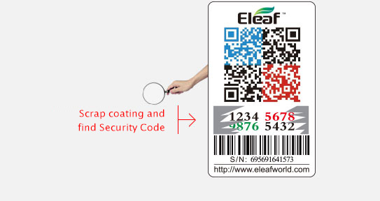 Eleaf Ijust Mini 2 Security code