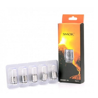 Buy Smok TFV8 Baby Beast 5 pack of coils (V8 Baby-X4 - 0.15 ohm Dual) from the UK
