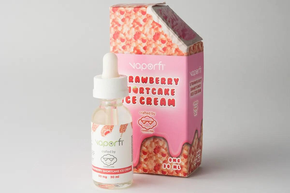 【リキッド】Strawberry Shortcake IceCream「ストロベリーショートケーキアイスクリーム」 (VaporFi by Cosmic Fog/ベイパーファイ バイ コスミック フォグ) レビュー