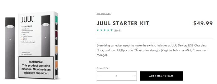 juul starter kit price