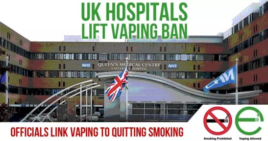uk hospital lift vaping ban link vaping to quitting smoking