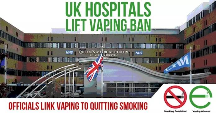 uk hospital lift vaping ban link vaping to quitting smoking