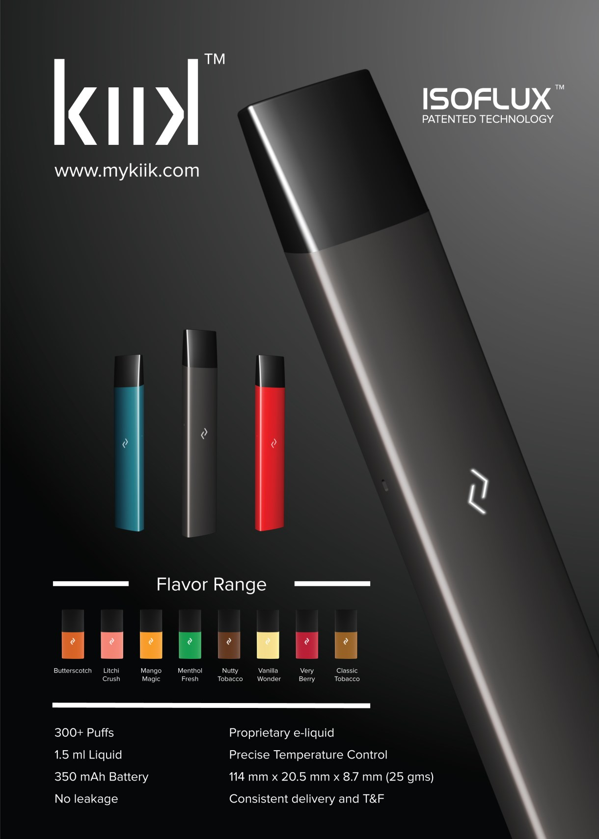 Next Vape KIIK features ISOFLUX