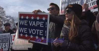 US vape users gather in Washington to protest the ban