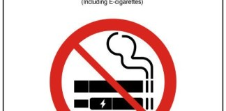this area is smoke free(inclusind e-cigarettes)